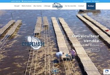 creation site web vendee ostreiculteur